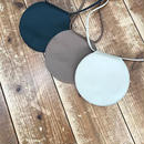 fakeleather round pochette (3color)