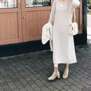 Cashmere wool knit onepiece (2color)