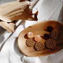 【Lelalité】tortoise shell circle wood