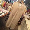 透かし編み半袖ロングカーディガン