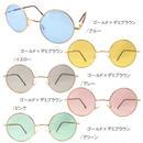 【全7色】ラウンドカラーサングラス