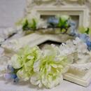 サムシングブルー花冠*