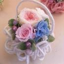 枯れないお花プリザーブドフラワーのアレンジメント「モコモコホワイト」