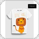 ライオン 半袖 Tシャツ (3か月~6歳) ホワイト