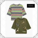 アニマル刺しゅう入り 長袖 Tシャツ2枚セット  (3~24か月)