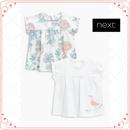 アヒル柄&フローラル Tシャツ 2 枚セット (0~24か月)