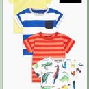 恐竜ストライプ半袖 Tシャツ 4 枚セット  (3~24か月)