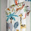 ジャングル ベッドリネンセット  シングルサイズ 掛×枕カバー