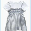 ストライプキャミソール&Tシャツセット (2~6歳)