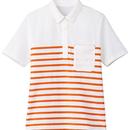 【Natural Smaile】LADIES BORDER POLO SHIRT(Orange)/レディスボーダーポロシャツ(オレンジ)