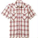 【Lee】MENS WESTERN CHECK SHIRTS(Red)/メンズ ウエスタン チェック 半袖シャツ(レッド)