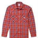 【Lee】MENS WESTERN CHECK SHIRTS(Red×Navy)/メンズ ウエスタン チェック長袖シャツ(レッド×ネイビー)