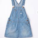 【Lee Kids】OVER ALL SKIRT( Light Used)/オーバーオールスカート(淡色ブルー)