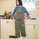 【Lee】WORK LINE OVERALL APRON(Khaki)/ワークラインオーバーオールエプロン(カーキ)