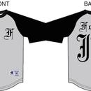 【予約商品】forte別注ChampionベースボールTシャツBLK/GRY(七分袖)