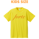 Kids Size forte Logo T-shirts (Yellow / Orange)