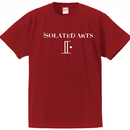 iSOLATED ARTS Official Logo T-shirts(Cherry Red) - General Price