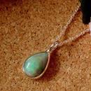 天然ブラックオパールシルバーネックレス2.65ct☆原石から磨いた1点もの