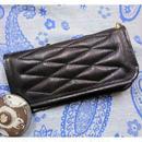 ALL GOAT SKIN Padded Wallet BLACK Leather×BLACK Stitch