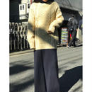 vintage wool cable knit sweater 生成り アイルランド製 表記42