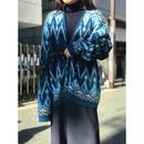 vintage mohair blend knit  cardigan ブルー USA製