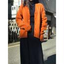 vintage mohair blend knit cardigan オレンジ 表記M USA製