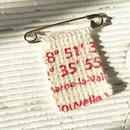ハンドニットフラップ付きキルトピン/RED