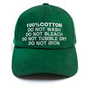 100% Ball Cap – Green