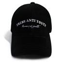 M.O.Y Suede Leather Ball Cap – Black
