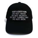 100% Ball Cap – Black