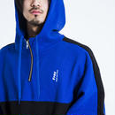 Half zip-up Hoody-BLUE