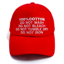 100% Ball Cap – Red