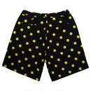 SMILE  WIDE SHORTS PANTS-BLACK