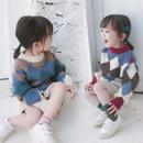 ☆子ども服☆カラフルダイヤキッズニット 2色