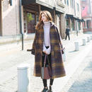 小さいサイズから大きいサイズまで♡韓国風オーバーサイズチェックチェスターコート