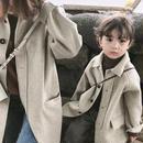 ☆子ども服☆ワンピース風cuteボタンコート