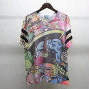 bodysong×kou 総柄Tシャツ mix