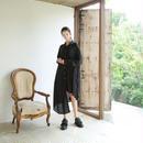 bedsidedrama かけ違いのシャツドレス(BLACK)