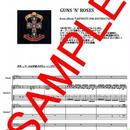ガンズ・アンド・ローゼス(GUNS N' ROSES)  / ウェルカム・トゥ・ザ・ジャングル(WELCOME TO THE JUNGLE) バンド・スコア(TAB譜)