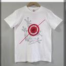 【プリント】狙われた蛙_ホワイトTシャツ