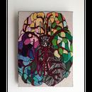 【手刺繍】カラフル脳