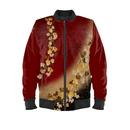 Japanese traditional emblem art Butterfly Ladies Bomber Jacket