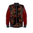 Japanesque Rose and Butterfly Ladies Bomber Jacket