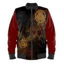 SAMURAI SHOGUN TOKUGAWA red arm Man's Bomber Jacket