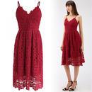 真っ赤な素敵なクロシェットキャミドレス