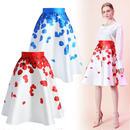 バラの花びらプリントスカート *2colors