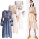 エキゾチックボホー刺繍ドレス