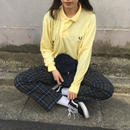 Fred perry yellow one point long polo