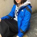 Adidas blue black line nylon jacket