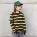 Three color border knit